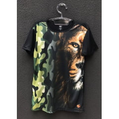 Camiseta Leão Camuflado Masculina
